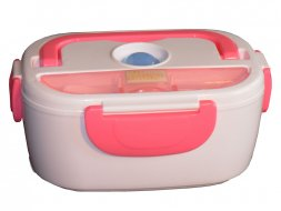 Lunch box chauffante rose Chromex